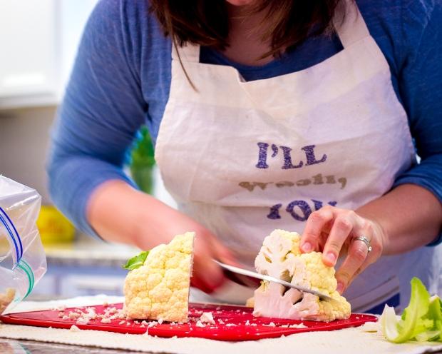 fastest way to cut cauliflower