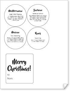 Christmas Spices Labels