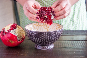 cut your pomegranate
