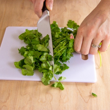 cilantro chopping-7228