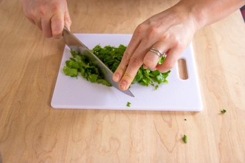 cilantro chopping-7242