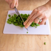 cilantro chopping-7244